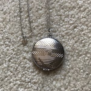 HOUSE OF HARLOW 1960  - Silver Locket Necklace